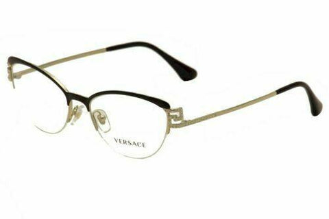 Versace VE1239B 1291 Eyeglass Frames Black/Pale Gold 100% Authentic & New