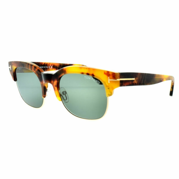 Tom Ford Harry FT0597/S 55N 51 Yellow Havana Gold Plastic Sunglasses Green Lens