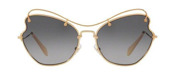 Miu Miu Sunglasses Scenique Oversize Butterfly Style Grey Gradient Lens