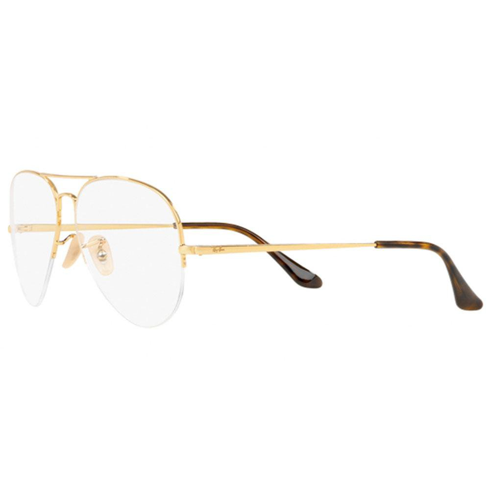 9f9a2583fc4f4 Ray-Ban Eyeglasses Aviator Style Gold Customisable Demo Lens.