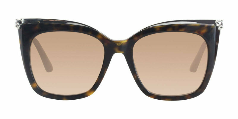 Cartier Sunglass - CT0030S 002 53MM Cat Eye Style - Peach Mirrored Lens
