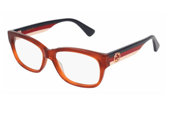 Gucci GG0278OA 003 Rectangular Square Brown Multicolor Optical Frame
