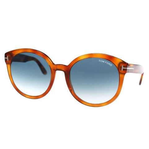 Tom Ford sunglass oval style brown color - Blue gradient lens TF503 53W 55mm