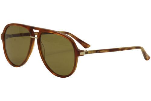 Gucci Sunglass - GG0015/S 003 - Aviator Style Brown Lens