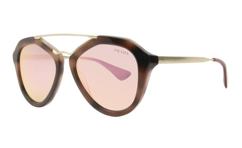 Prada Cat Eye Style Sunglasses W/Rose Gold Mirrored Lens