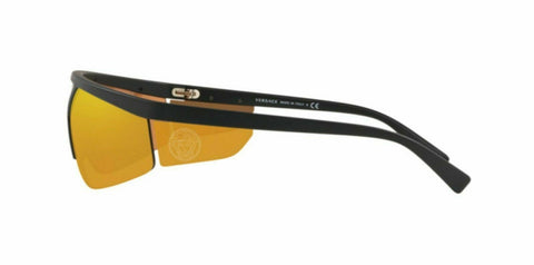 Versace Sunglasses VE4349 50795A Matte Black / Brown Orange Lens
