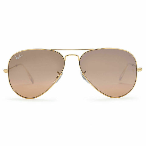 Ray Ban Sunglasses RB3025 001/3E 58 Large Aviator Arista Gold Smoke Pink Mirror