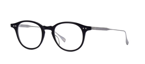 Dita Eyeglass Ash Round Style Black /Antique Silver Color | DRX-2073-F-BLK-SLV-49MM
