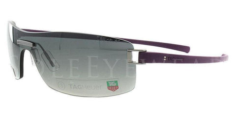 Tag Heuer Unisex Wrap Sunglasses Purple Frame Grey TH7509 107