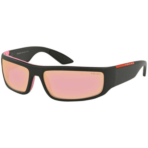 Prada Sport Sunglasses PS02US 3535L2 65 Black/Pink Rose Gold Mirror Lens