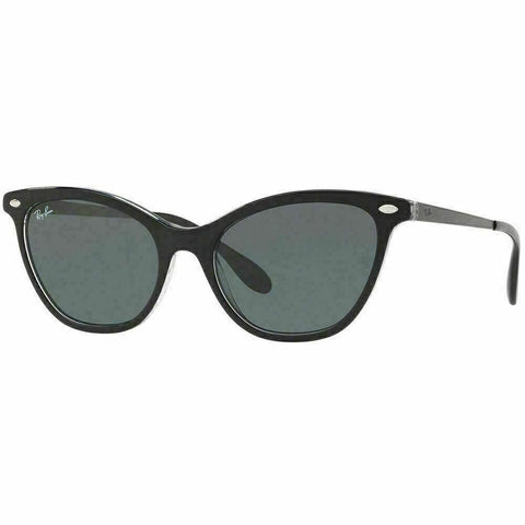 Ray-Ban Sunglasses Top Black On Transparent W/Dark Green Lens RB4360 919/71