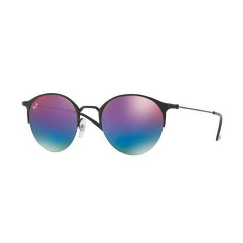 Ray Ban RB3578 186/B1 Sunglasses Metal Frame Blue/Violet Gradient Mirror Lenses