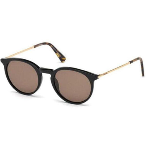 Mont Blanc Sunglasses Round Frame Brown Mirror Lens