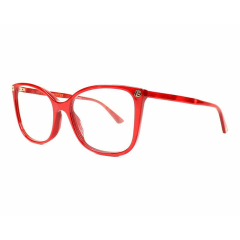 Gucci Eyeglasses GG0026O 004 53 Acetate Marble Red Red Optical Frame