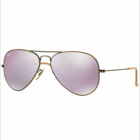 Ray Ban RB3025 167/4K 58MM Bronze Copper w/Lilac Mirrored 58mm Flash Lenses Suns