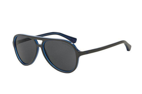 Emporio Armani Men Sunglasses EA4063 546787 Blue Frame Grey Lens