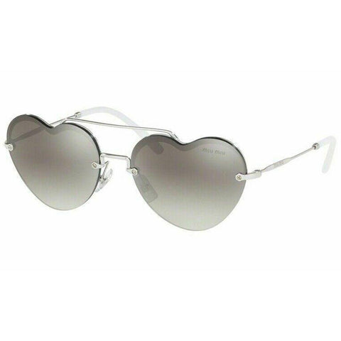 Miu Miu FOREVER IN LOVE MU62US 1BC5O0 58 Silver/Grey Shaded Mirror Sunglasses