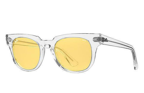 NEW! Ray Ban RB2168 Meteor 912/4A 50 Trasparent Photochromic Yellow Sunglasses