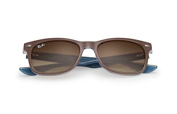 Ray-Ban Sunglass Square Style Matte Brown Color | New Wayfarer Junior RJ9052S 7035/13