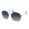 Tom Ford Sunglass Antonia Aviator style Blue gradient lens- FT0506 28W