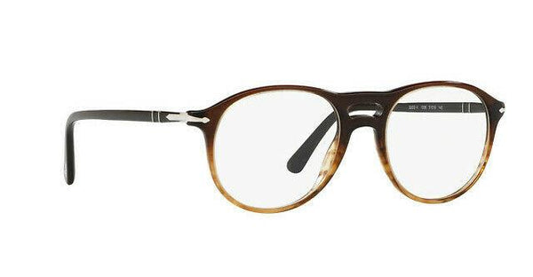 Persol Eyeglass - PO3202V 1026 51MM Aviator Style - Gradient Black/Stripped Brownes W/Demo Lens