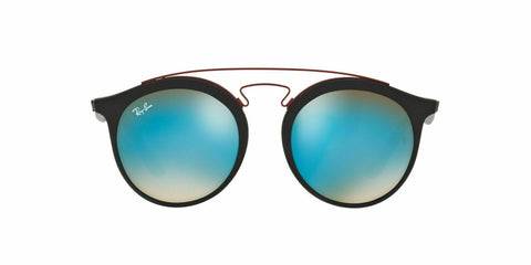 Ray Ban Round Style Sunglasses W/Blue Mirrored-Gradient Lens