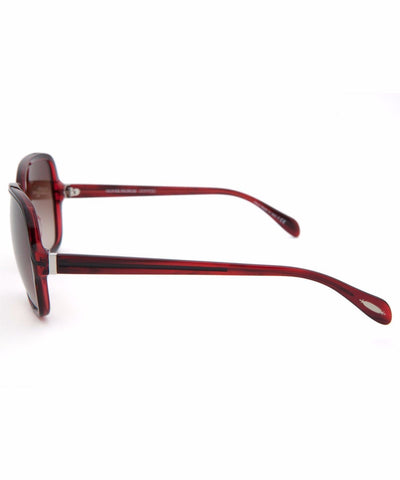 Oliver Peoples Sunglass Coralie Square Style Burgundy Color | OV5169S 105313
