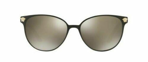 Versace Sunglasses VE2168 13665A Black Pale Gold / Light Brown Mirror 57 mm