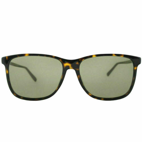 Gucci GG0017S 002 57 Dark Havana Plastic Rectangle Sunglasses Brown Lens