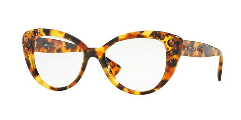 Versace Women Cat Eye Eyeglasses Tortoise Frame Demo VE3221B 5119 52mm