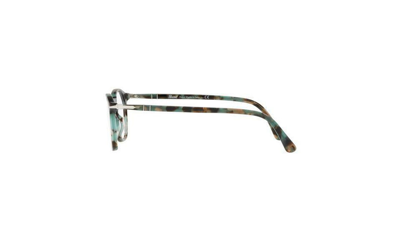 Persol Eyeglass - PO3209V 1070 52 Typewriter Edition Square Style Tortoise Azure color