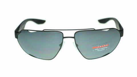 Prada Sport Active Sunglasses PS56US DG05Z1 66 Black Grey Polarized Lens 66mm