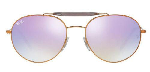 Ray-Ban Round Lilac Gradient Flash Acetate Metal 56MM Sunglasses RB3540 198/7X