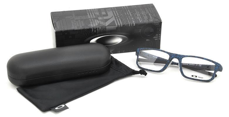 Oakley Eyeglass - Square Shape Voltage Model Space Navy Color Eyeglass OX8066-0455