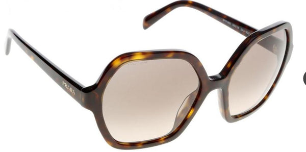 Prada Butterfly Style Sunglasses W/Light Brown/Grey Gradient Lens