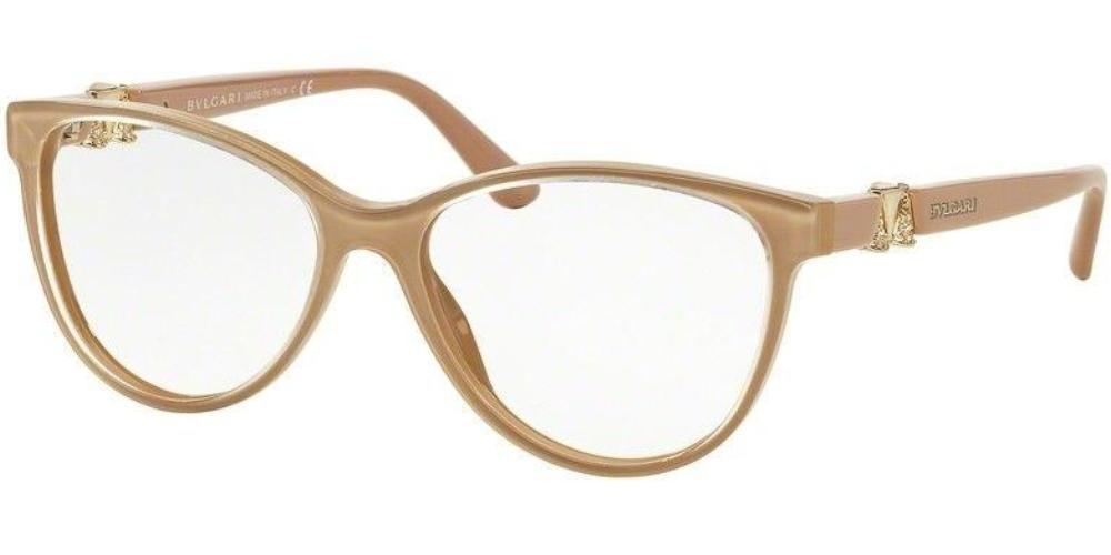 Bvlgari Women Eyeglasses BV4119B 5382 Turtledove Brown Frame Demo Lens