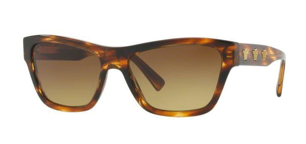 Versace Sunglasses Women Cat Eye Frames with Brown Lens