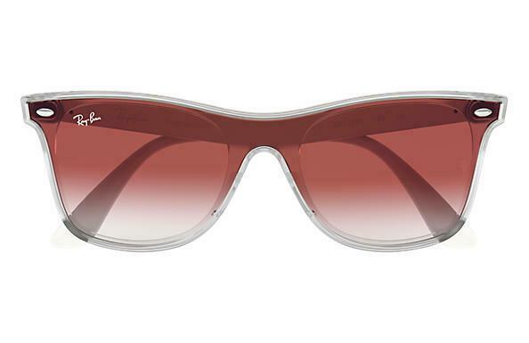 Ray Ban Sunglasses RB4440N 6357/V0 41 Matte Trasparent Gradient Mirror Red