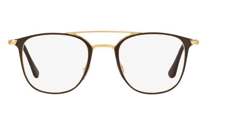 Ray Ban Damen Herren Brillenfassung RX6377 2905 48mm Brown Gold Vollrand 493 16