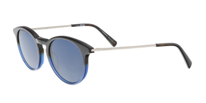 Mont Blanc Sunglass - Round Style Plastic Frame Blue Lens Men Sunglass - MB549/S 56V 49MM