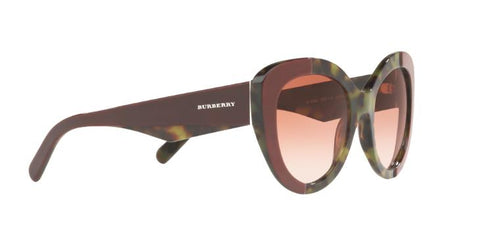 Burberry Sunglasses BE4253 365113 54MM Top Bordeaux On Green Havana
