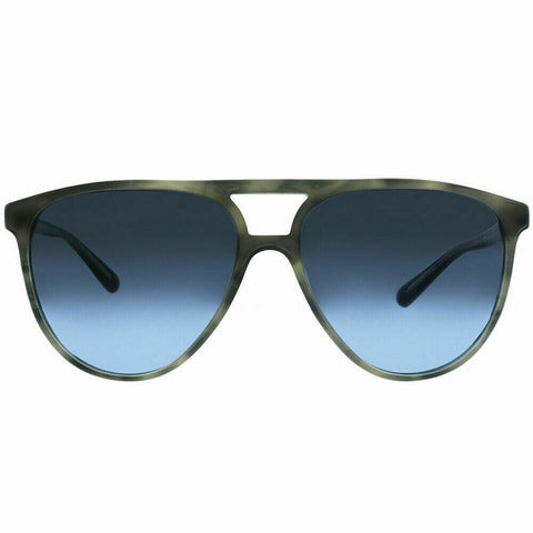 Burberry BE4254F 36588F 58 Striped Grey Plastic Sunglasses Blue Gradient Lens