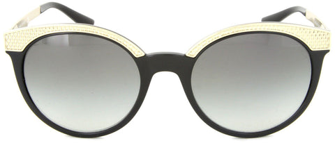 New VERSACE Sunglasses VE4330 GB1/11 53MM Black/Gold/Gradient Gray For Women
