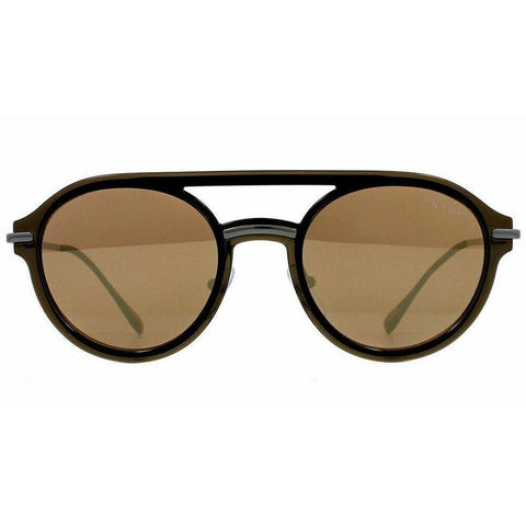 Prada Linea Rossa PS 05TS  5N9HD0 Brown Plastic Sunglasses Brown Mirrored Lens