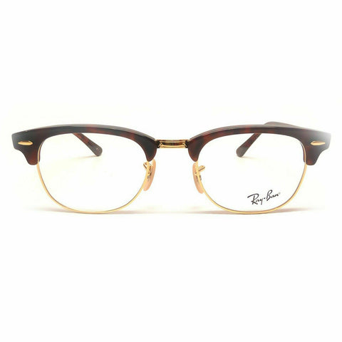 Ray Ban Clubmaster Eyeglasses RX5154 2372 49mm Red Havana/Demo Lens [49-21-140]