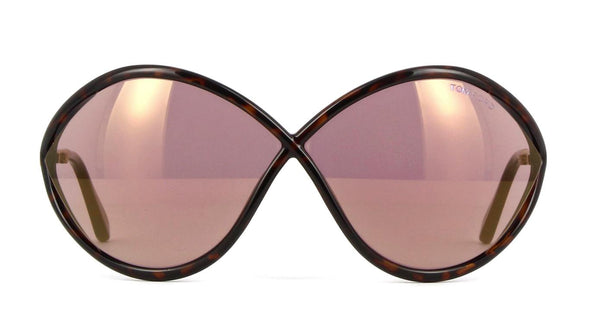 Tom Ford Sunglasses Liora Oversize Style Purple Mirrored Lens