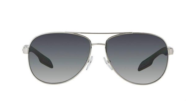New PRADA Sunglasses PS53PS 1BC5W1 62MM Benbow Aviator Pilot Metal POLARIZED