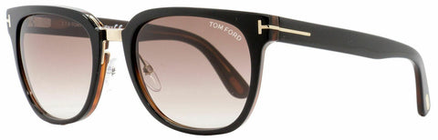 Tom Ford Rock Square Sunglasses TF290 01F 55 Black/Gold /Brown Gradient Lens