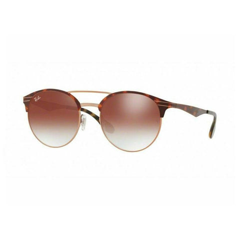 Ray-Ban RB3545-9074V0 Tortoise Round Red Gradient Mirror Lens Sunglasses