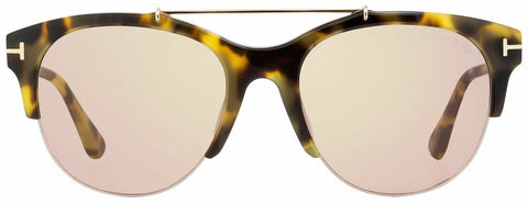 New Tom Ford FT0517 56Z Adrenne Havana Gold / Purple Sunglasses
